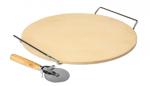 Kamień do pizzy z uchwytem i nożykiem, okrągły33cm