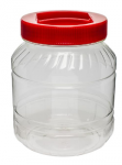 Słój 3 L plastikowy - kolorowa zakrętka