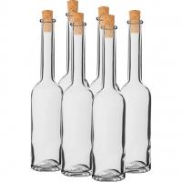 Butelka na nalewkę 100 ml 6 szt.+ 6 korków