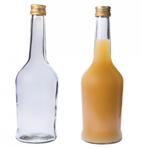 Butelka bezbarwna Napoleon + zakrętka 500 ml