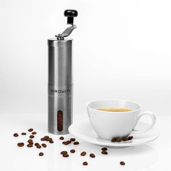 Ręczny młynek do kawy z regulacją - stalowy