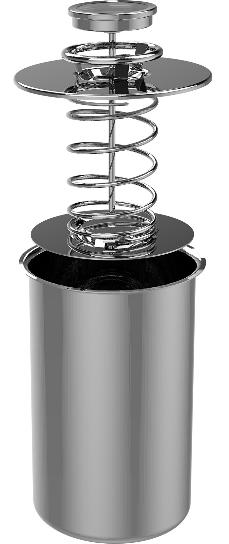 Zestaw z płaszczem wodnym-szynkowar 1,5kg + garnek