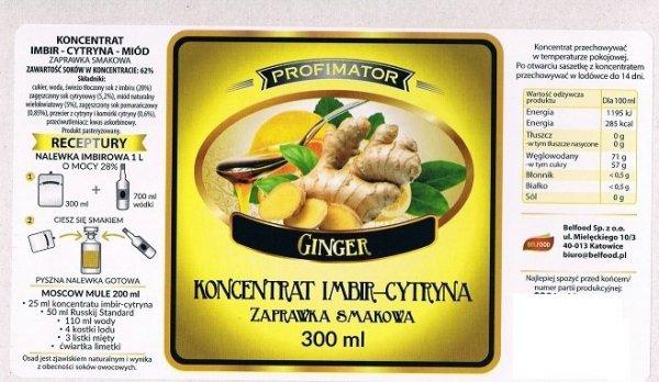 Zaprawka owocowa - imbir-cytryna-miód 300ml