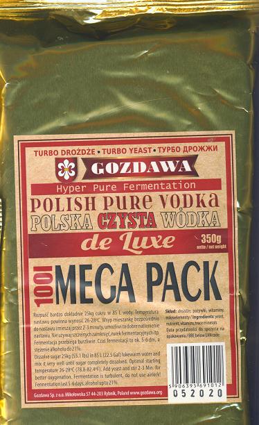"""Drożdże """"Polska Czysta Wódka"""" de Luxe MEGA PACK"""
