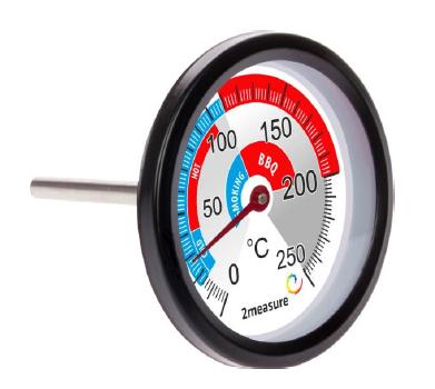 Krótki termometr do wędzarni i BBQ 0-250°C