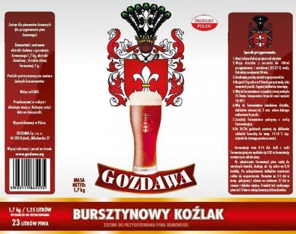 Bursztynowy Koźlak 1,7kg - Gozdawa - dolna fermentacja