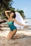 Dámské plavky Marko Whitney Turquoise-Martinicia-Fango M-253 tyrkysovo-mořské