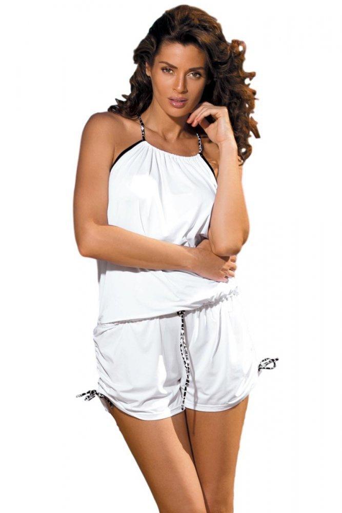 93c676c395a Plážová tunika Marko Leila Bianco M-312 Bílý - Plážové šaty - Plavky