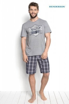 Henderson Duke 34271-90X Šedé Pánské pyžamo