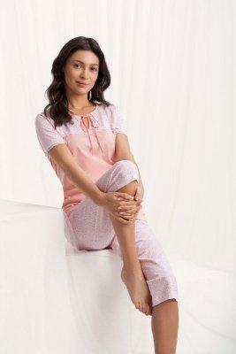 Luna Emily 567 Meruňkové Dámské pyžamo