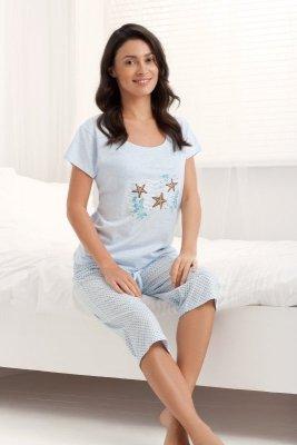 Luna Holiday 677 Světlé modré Dámské pyžamo