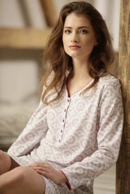 Cana Amanda 763 Bílo-mocca Noční košilka