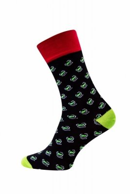 Sesto Senso Finest Cotton zelené fazole Ponožky