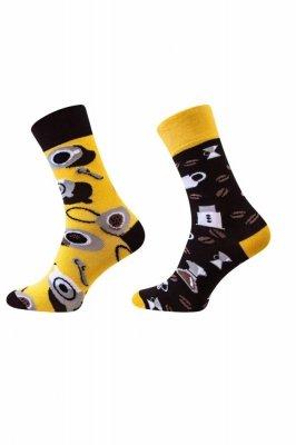 Sesto Senso Finest Cotton Duo káva/džbánek Ponožky