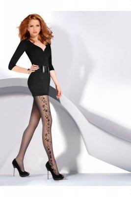 Gabriella 465 flora 20 den nero Punčochové kalhoty
