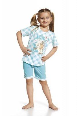 Cornette 583/44 Rabbit Bílo-tyrkysové Dívčí pyžamo