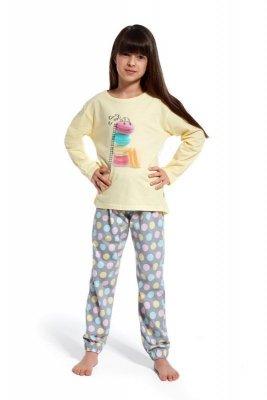 Cornette 973/83 Time ro re young Žluté Dívčí pyžamo