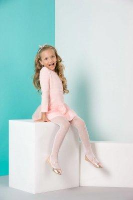 Gabriella 763 nela bílé Dívčí punčochové kalhoty