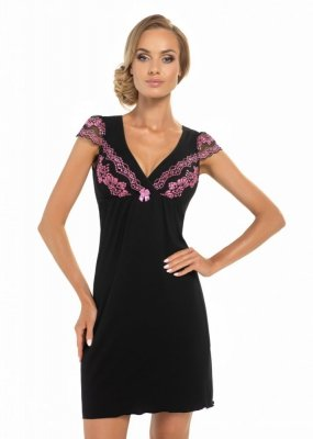 Donna Aura černá Noční košile