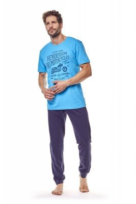 Henderson 36204 50x Světle modré Pánské pyžamo