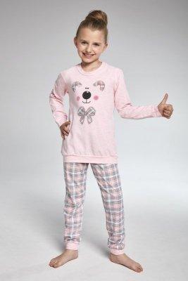 Cornette 594/96 Teddy Růžové Dívčí pyžamo