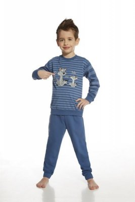 Cornette 966/43 daddy and me young proužky jeans Chlapecké pyžamo