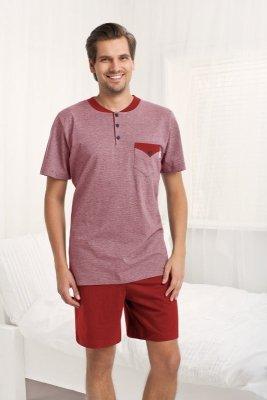 Luna Adrien 753 Bordové Pánské pyžamo