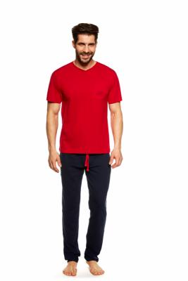 Henderson Upon 36829-33X Červeno-tmavě modré Pánské pyžamo