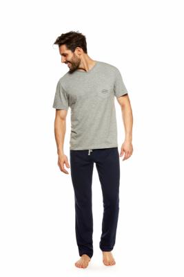 Henderson Upon 36829-90X Šedo-tmavě modré Pánské pyžamo