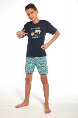 Cornette 790/75 young i`m lazy tmavě modré Chlapecké pyžamo