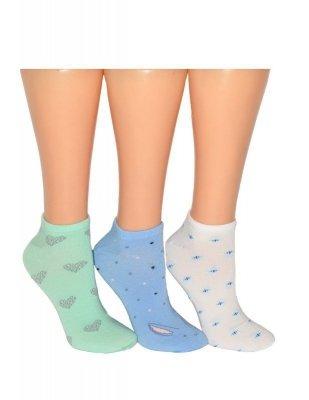 Bratex Bambus 9612 Dámské ponožky s vzorem