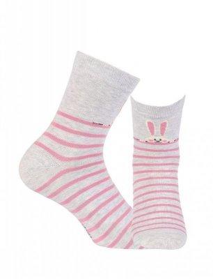Wola W44.01P 11-15 lat Dívčí ponožky s vzorem