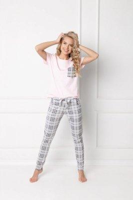 Aruelle Londess Long Pink-Grey Dámské pyžamo