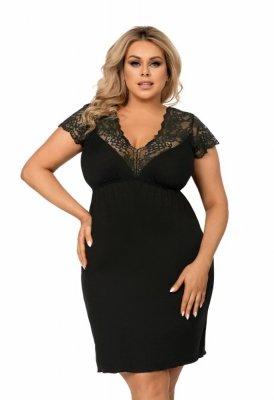 Donna Tess černá Noční košile Size Plus