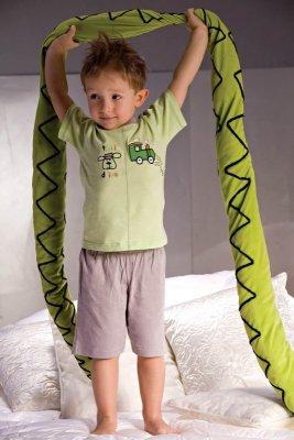 Piccolo Meva Samuel 2973 šedo-zelené Chlapecké pyžamo