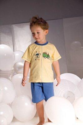 Piccolo Meva Samuel 2973 žluto-modré Chlapecké pyžamo