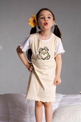 Piccolo Meva Ami 2981 žlutá Dívčí noční košilka