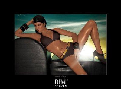 Plavky Demi Saison Lady Madonna hnědé s páskem
