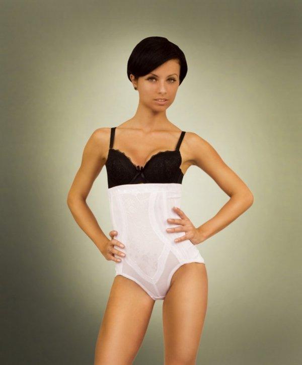 Linea Fashion 521 white Stahovací kalhotky