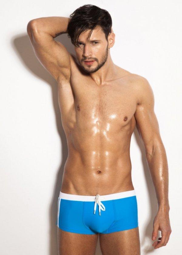Alpha Male Sacco Azur Pánské plavky