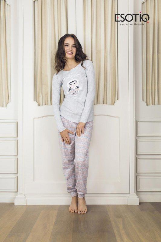 Esotiq Dolly 1 (33515-09X) (33519-09X) Světle šedé Dámské pyžamo