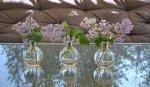 Wazonik szklany przezroczysty