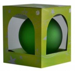 Bombka przezroczysta duża 15 cm zielony mat