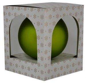 Bombka gładka duża 15 cm zielony mat