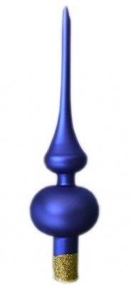 Czub gładki 28 cm niebieski mat