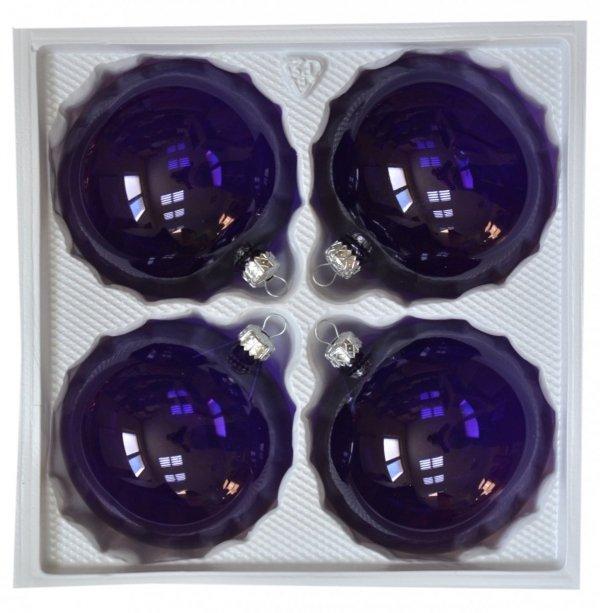Bombki przezroczyste 10cm 4szt fiolet