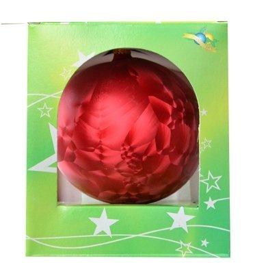 Bombka gładka duża 15 cm czerwona mrożonka