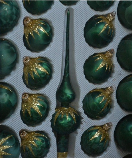 Zestaw dekorowany 39 szt. ciemna zieleń