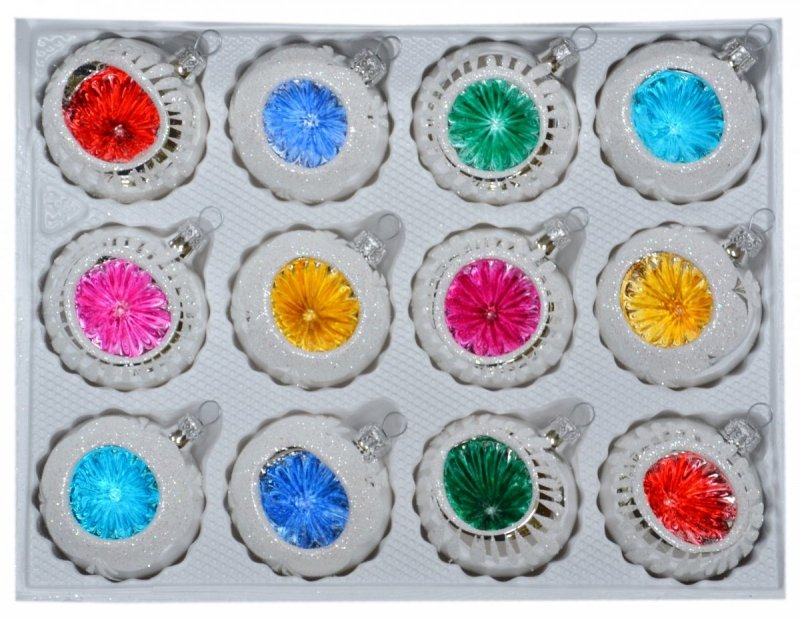 Bombki 6 cm 12 szt REFLEKTOR mix kolorów