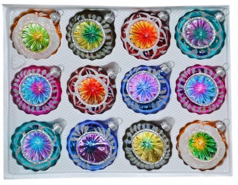 Bombki 7 cm 12szt REFLETOR mix kolorów